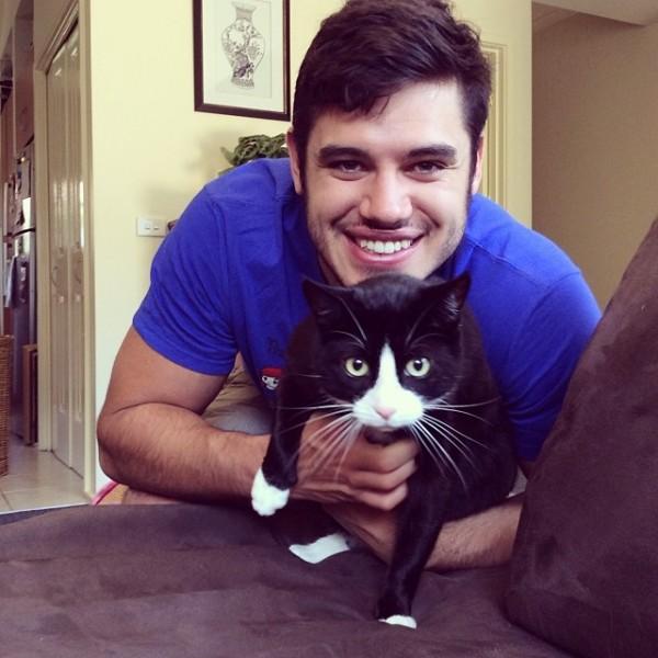 Me, with my cat Boris