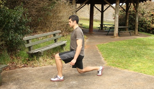 Split Squat Bottom Position
